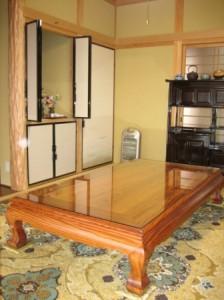 一枚板ローテーブル (1)