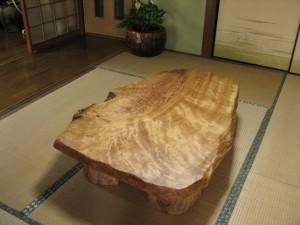 一枚板ローテーブル (10)