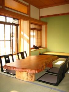 一枚板ローテーブル (11)