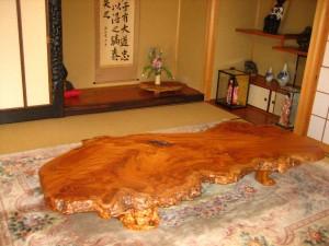 一枚板ローテーブル (13)