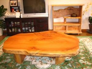 一枚板ローテーブル (15)