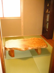 一枚板ローテーブル (17)