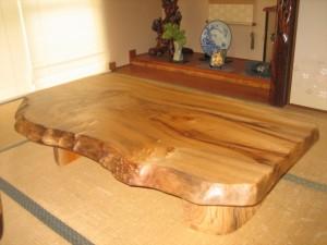 一枚板ローテーブル (18)