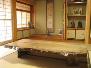 一枚板ローテーブル (2)