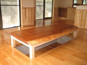 一枚板ローテーブル (20)
