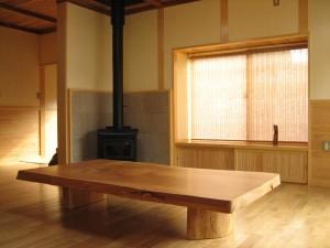 一枚板ローテーブル (21)