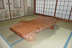 一枚板ローテーブル (26)