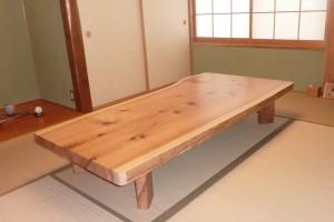一枚板ローテーブル (27)