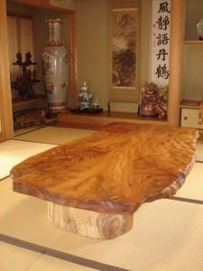 一枚板ローテーブル (3)