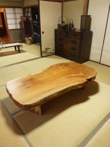 一枚板ローテーブル (33)