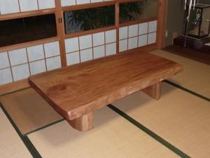 一枚板ローテーブル (35)