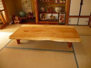 一枚板ローテーブル (39)
