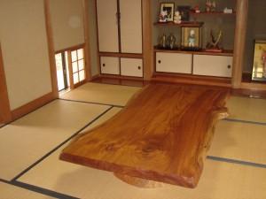 一枚板ローテーブル (4)