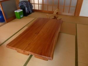 一枚板ローテーブル (45)