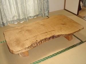 一枚板ローテーブル (5)