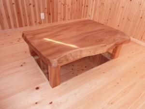一枚板ローテーブル (52)