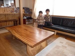 一枚板ローテーブル (55)