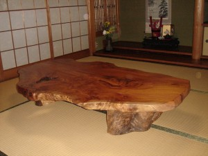一枚板ローテーブル (6)