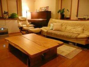 一枚板ローテーブル (63)