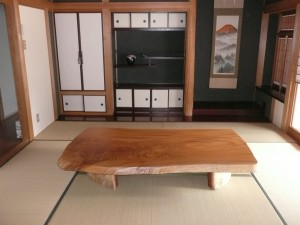 一枚板ローテーブル (65)
