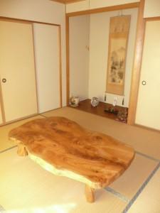 一枚板ローテーブル (66)