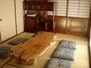 一枚板ローテーブル (7)