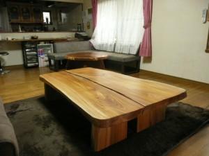一枚板ローテーブル (73)