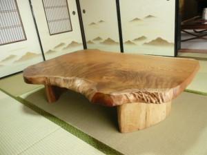 一枚板ローテーブル (75)