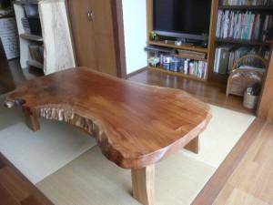 一枚板ローテーブル (77)