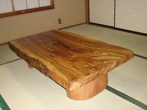 一枚板ローテーブル (8)