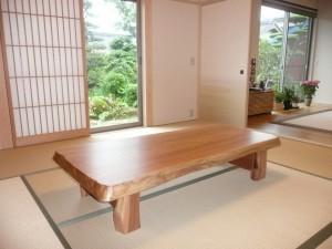 一枚板ローテーブル (80)