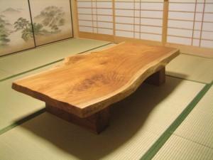 一枚板ローテーブル (83)