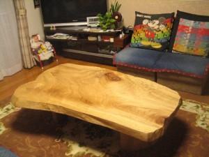 一枚板ローテーブル (84)