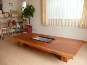 一枚板ローテーブル (85)