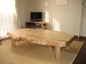 一枚板ローテーブル (87)