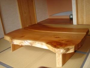 一枚板ローテーブル (9)