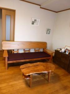 一枚板ソファ椅子 (10)