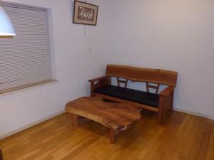一枚板ソファ椅子 (13)