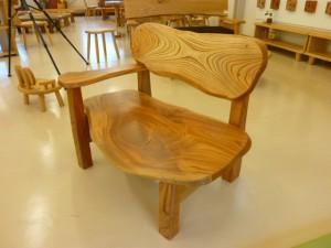 一枚板ソファ椅子 (16)