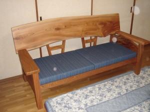 一枚板ソファ椅子 (2)