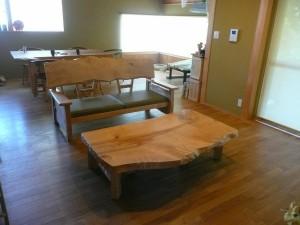 一枚板ソファ椅子 (22)