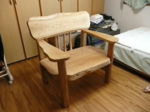 一枚板ソファ椅子 (27)