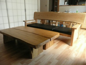 一枚板ソファ椅子 (28)