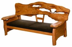 一枚板ソファ椅子 (3)