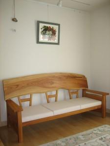 一枚板ソファ椅子 (33)