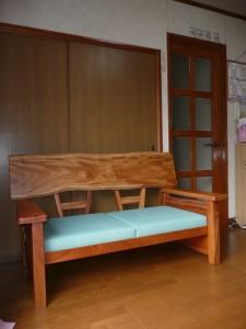 一枚板ソファ椅子 (34)