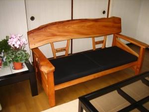 一枚板ソファ椅子 (35)