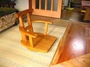 一枚板ソファ椅子 (5)