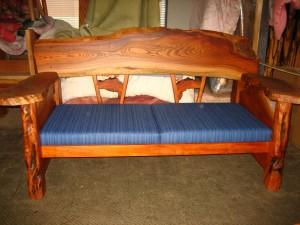 一枚板ソファ椅子 (6)