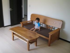 一枚板ソファ椅子 (7)
